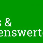 """Grafik: Schriftzug """"News & Wissenswertes"""" auf grünem Hiuntergrund"""